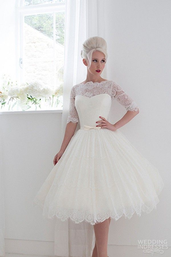 Mooshki Sleeves Short Wedding Dresses 2015 Trends Vintage Fashion