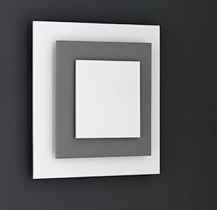 Wofi Lighting Sakai Modern White And Grey Square Wall Light Sakai Modern  White And Grey Square Wall Light. This Wall Lamp Can Be Directly Connected  With The ...