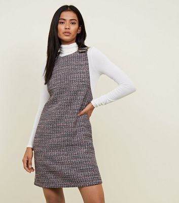 ba6c447c9a55 Black Boucle Gold Buckle Pinafore Dress New Look | Dresses | Dresses ...