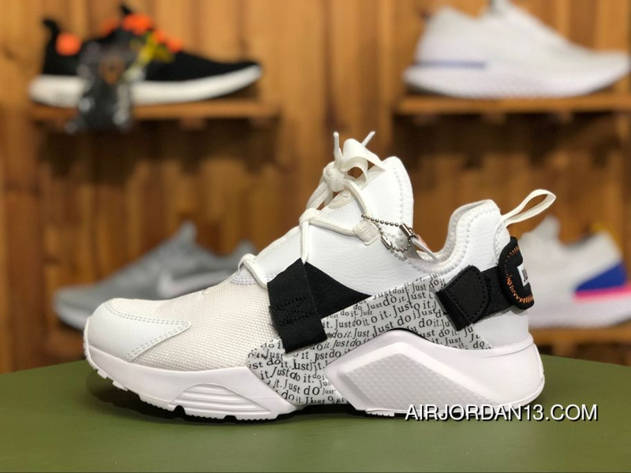 "fa109213b454c Nike Air Huarache City Low ""Just Do It"" AO3140-100 White Black-Total Orange  For Sale"