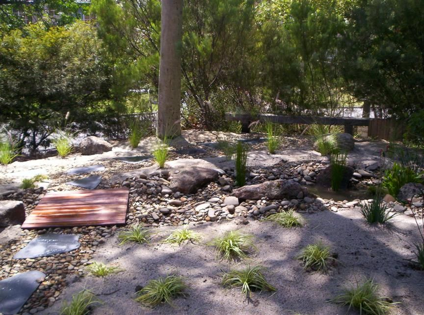 native garden design Dry Riverbed Pinterest Native gardens