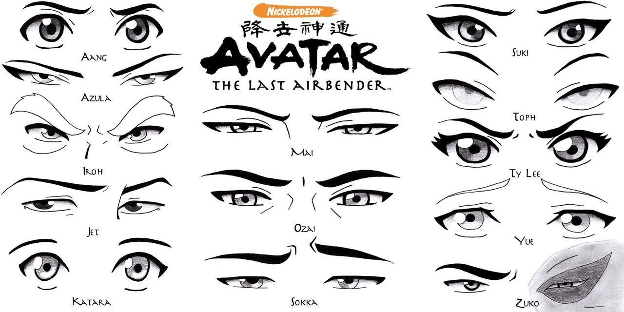 Eye Set - Avatar the Last Airbender by Sapphire56 on DeviantArt