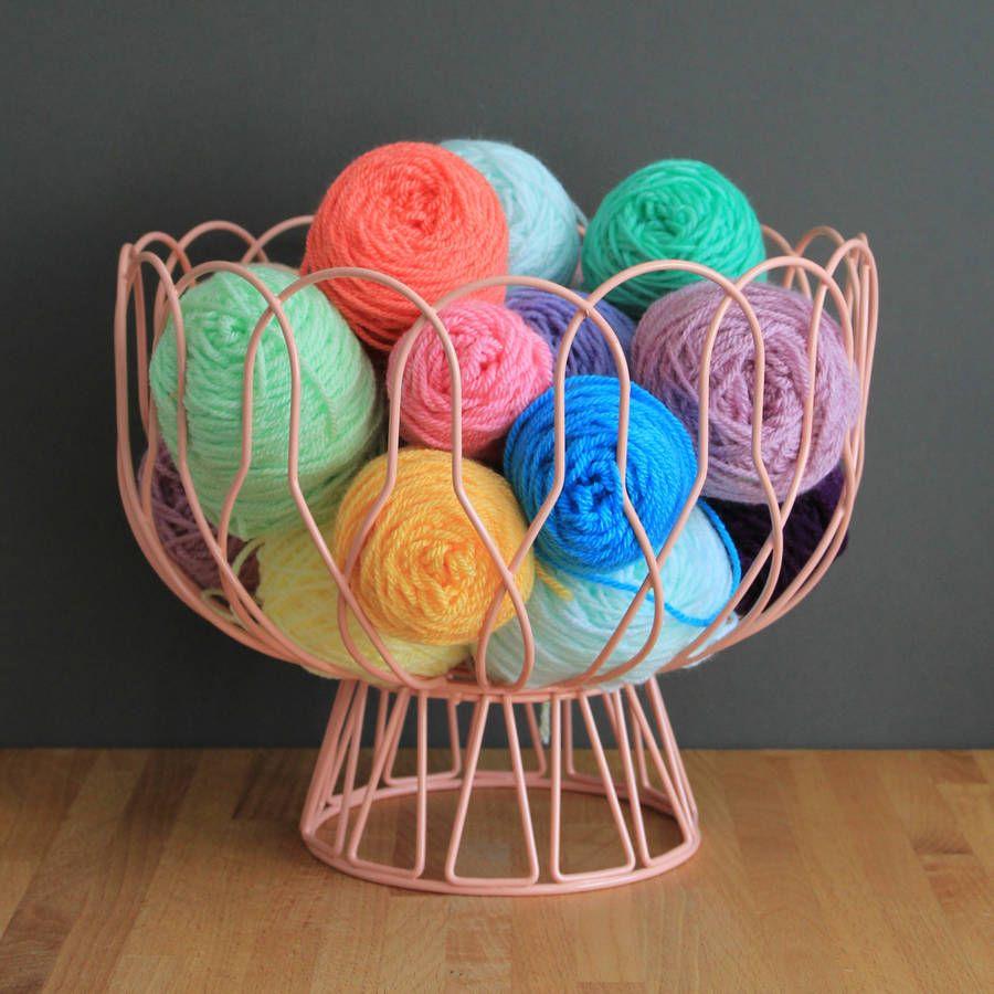 Wire Fruit Or Yarn Storage Bowl Pinterest Yarn storage Wire