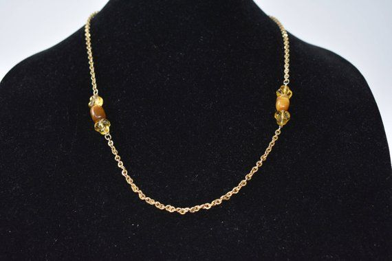 Necklace 12 K Karat Gold Filled Tiger Eye Vintage And Retro Etsy Necklace Jewelry Lovely Necklace