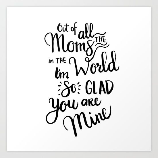 Cute mother's day gift!! #mom #gift #artprint | Diy gifts | Mom
