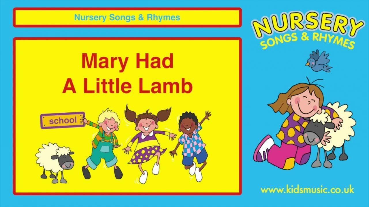 Kidzone Mary Had A Little Lamb Nursery Songs Childrens Songs Nursery Rhymes