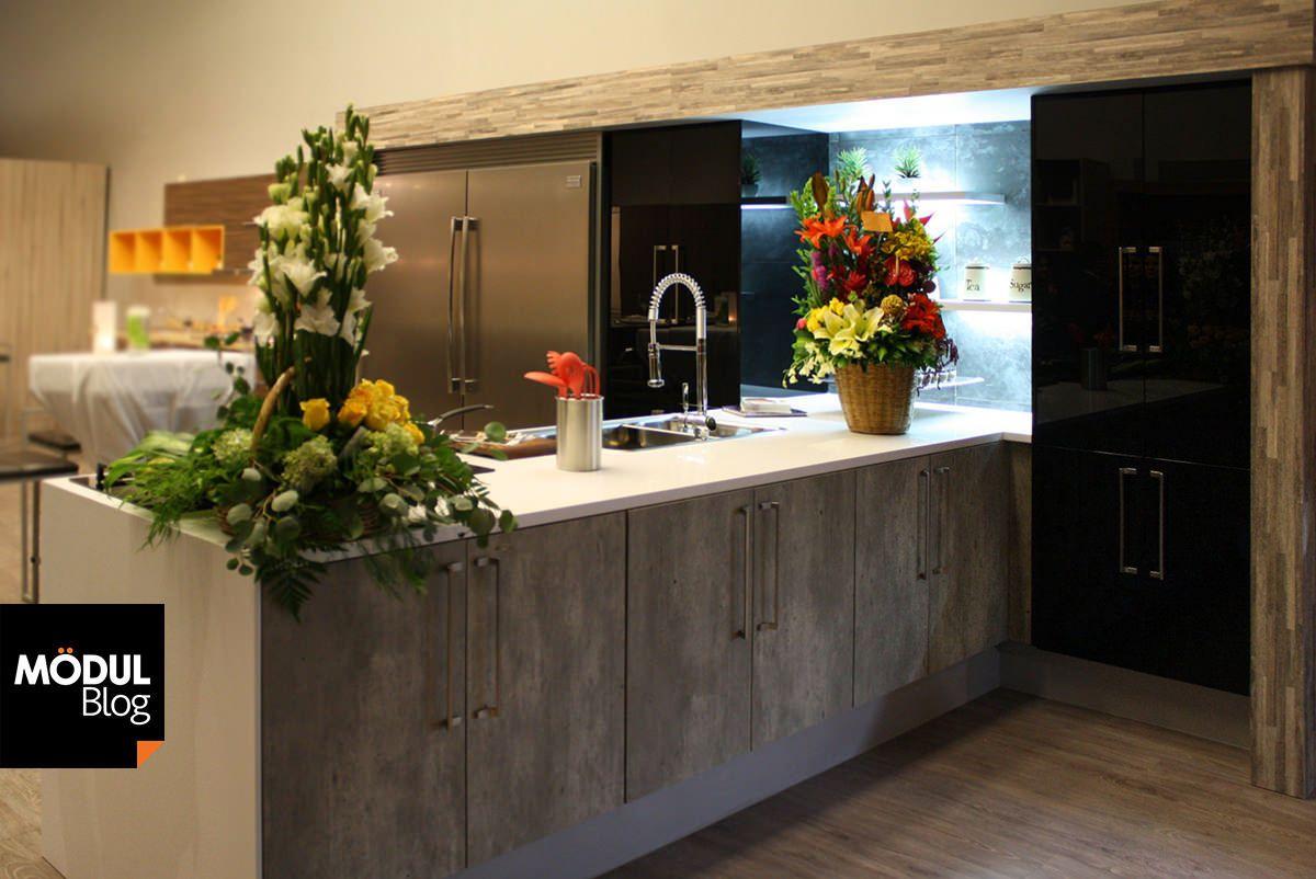 Dale A Tu Cocina Un Look Ultramoderno Con El Concreto Cocinas  # Muebles De Cocina Kiwi