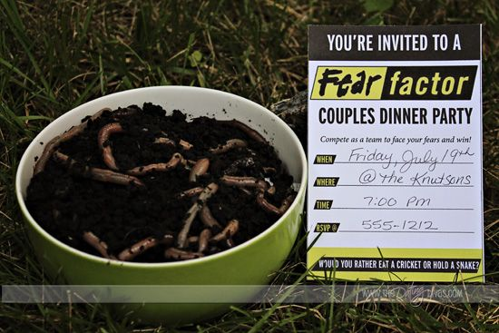 this couples game night will have all your friends talking snag these ideas for a fear factor themed couples dinner party - Halloween Fear Factor Games
