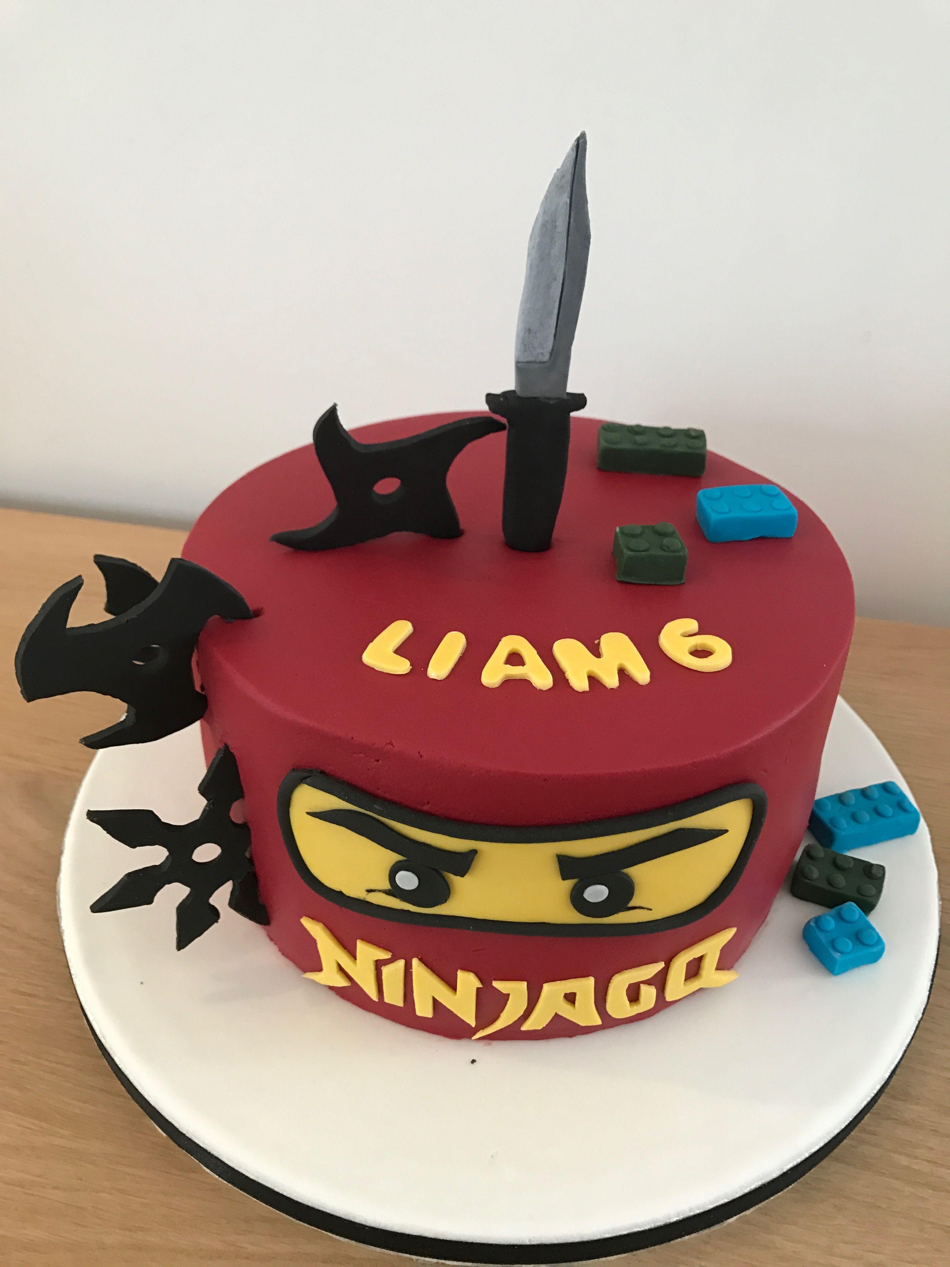 ninjago taart Ninjago taart Birthday 6 boy Verjaardagstaart jongen 6 Ninjago  ninjago taart