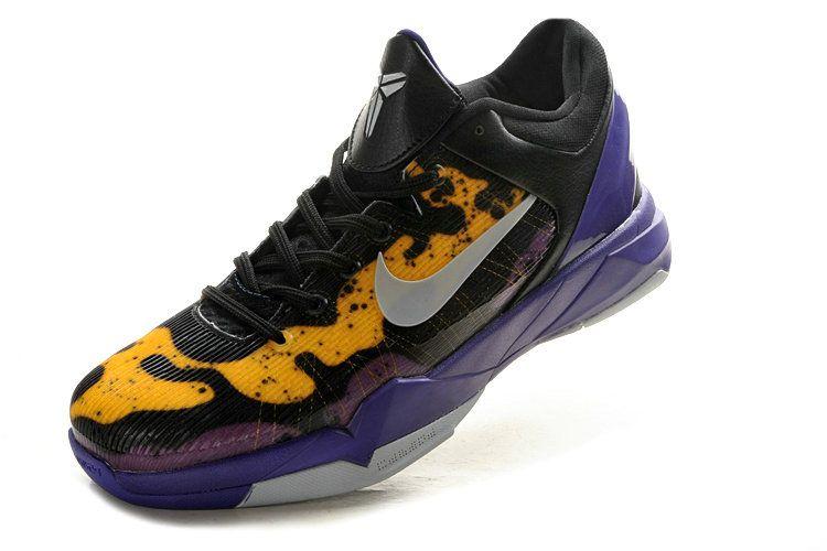 Free Shipping Only 69  Kobe 7 Poison Dart Frog Lakers Court Purple Wolf  Grey Black Tour Yellow 488371 500 6da6e696cf3c