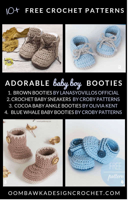 Photo of Free Crochet Patterns for adorable Baby Boy Booties