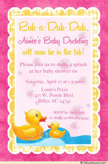 Splash The Hy Pas With Gifts Love A Cute Ducky Baby Shower Duckling Invitation Themed For Event Yellow Duck
