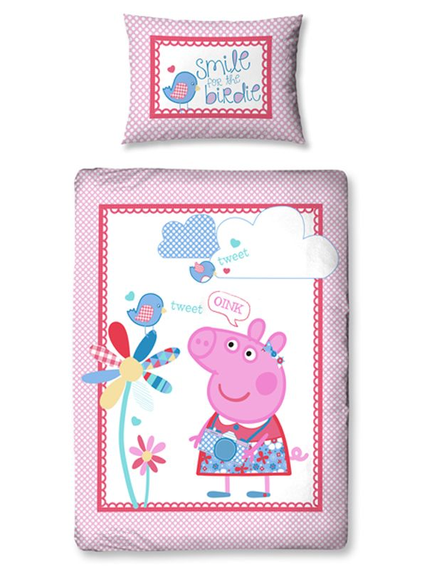 Your little one will love this gorgeous junior Peppa Pig duvet set ... : peppa pig quilt cover set - Adamdwight.com