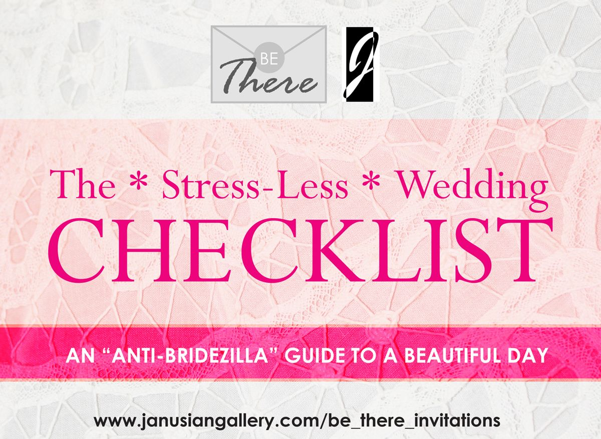 """So you're engaged..... Janusian Gallery and Be There Invitations offer advice on how to make it to the big day happy and relatively low-stress. Includes the """"tough love"""" about budgets and the legal aspects of marriage that other writers won't tell you. Part 1 of an ongoing series. #weddingplanning #wedding #weddingchecklist"""
