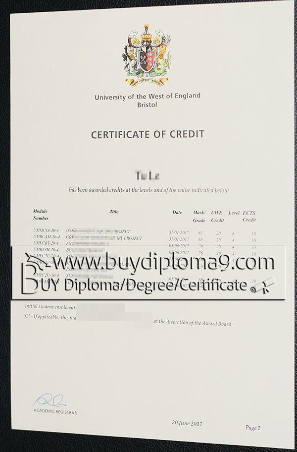 UWE bristol, Buy diploma, buy college diploma,buy university - degree certificate template