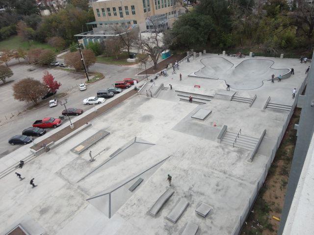 House Park Skate Park On Shoal Creek Blvd Near 12th Lamar In