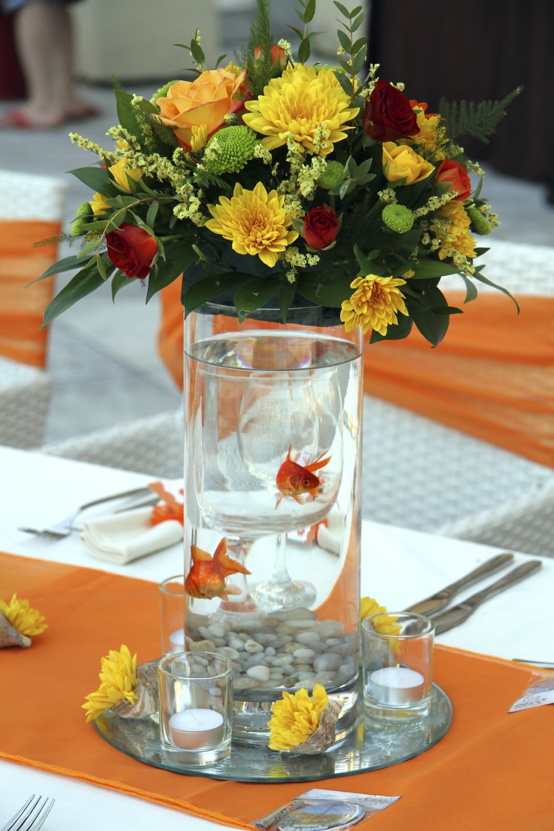 Beautiful Wedding Centerpieces With Fish Pictures - Styles & Ideas ...