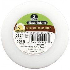 Beadalon 7 .012 300ft Bright   Price : $12.99