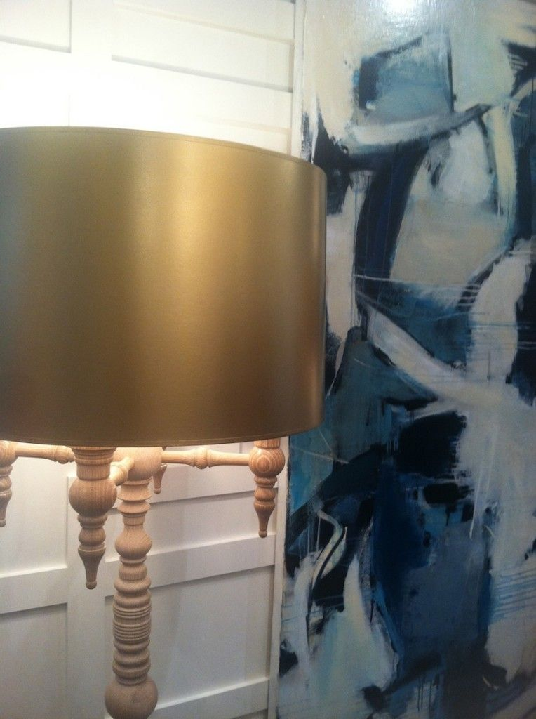 Dunes And Duchess Sailoru0027s Knot Lamp With Gold Lampshade. Design By @Molly  Hirsch Interiors