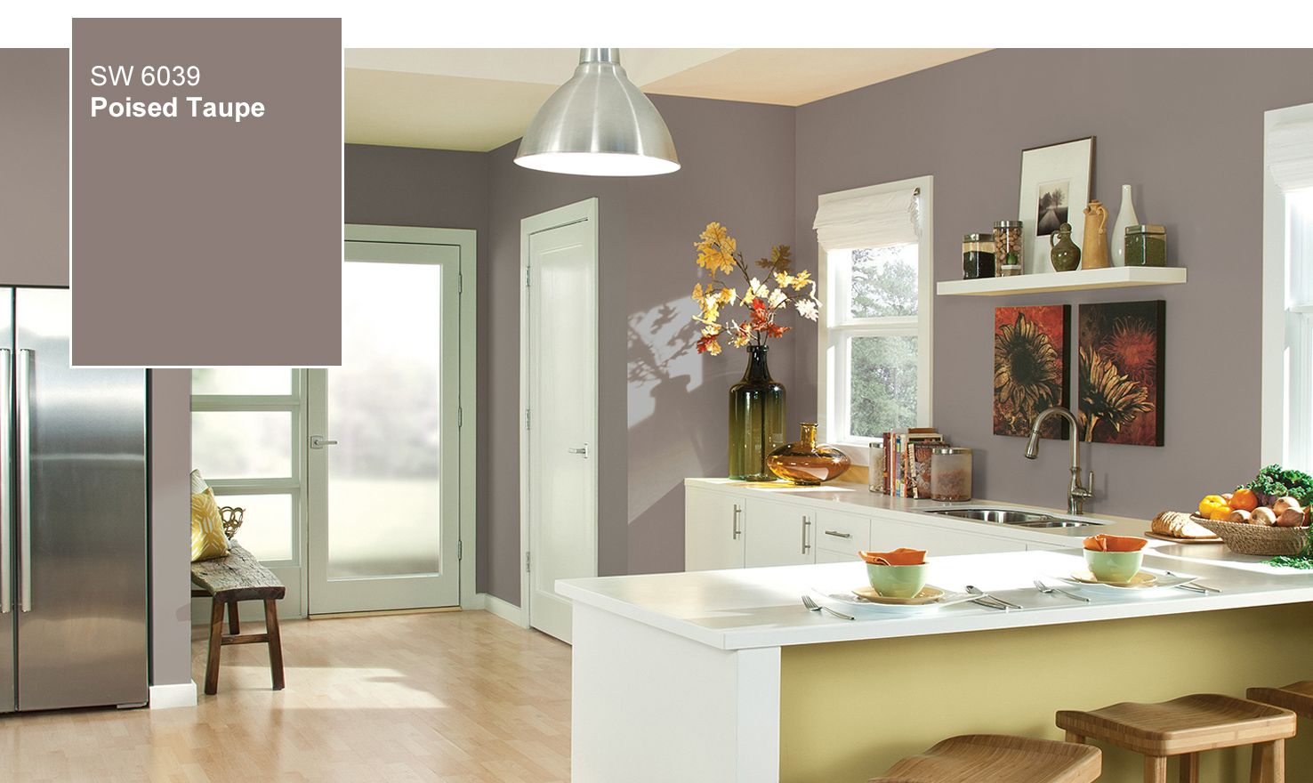 Sw Color Of The Year 2017 Poised Taupe 6039 Master Bedroom Wall