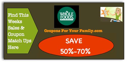 Northeast Whole Foods Coupon Matchups Whole Food Recipes Food Coupon Organic Fruit Snacks