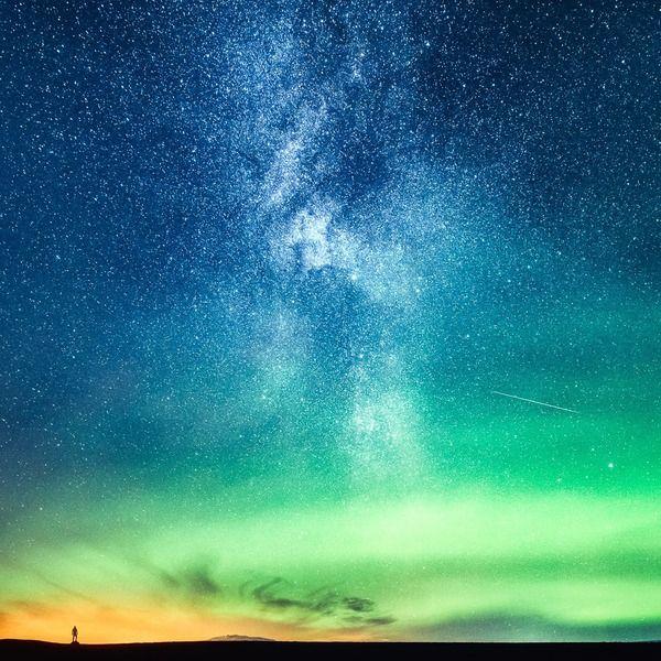 夜空や星がこんなにも綺麗って知ってた 満天に広がる綺麗な星空 Multiple Exposure Iceland Landscape Iceland