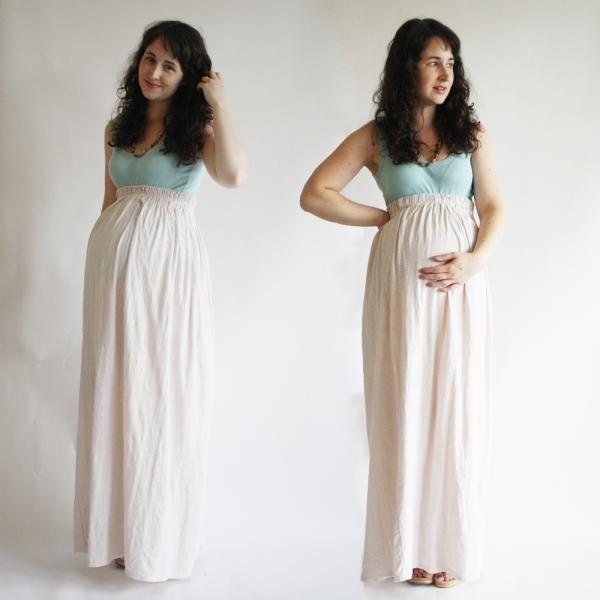 eb129ce07fea1 DIY Clothes Maternity Refashion: DIY maternity Jersey Maternity Maxi skirt