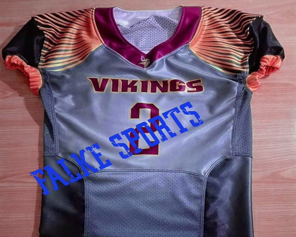 customized sublimated  vikings American Football jersey  88a00156a