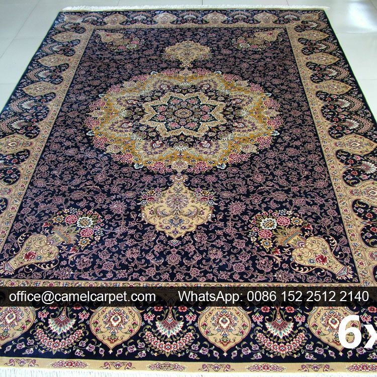 185x275cm Handmade Silk Dark Purple Kashmir Carpet Prices View Camelcarpet Product