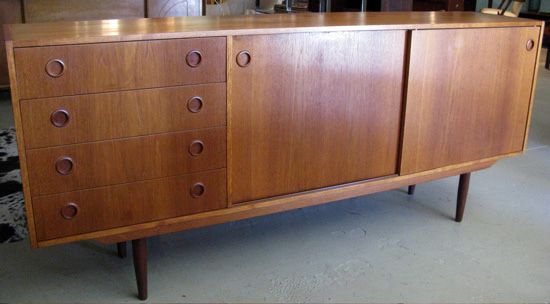 Adore The Round Pulls On This Mid Century Credenza Have One In My