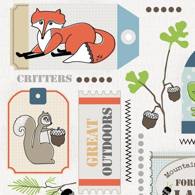 Critter Tags Fabric T-00484