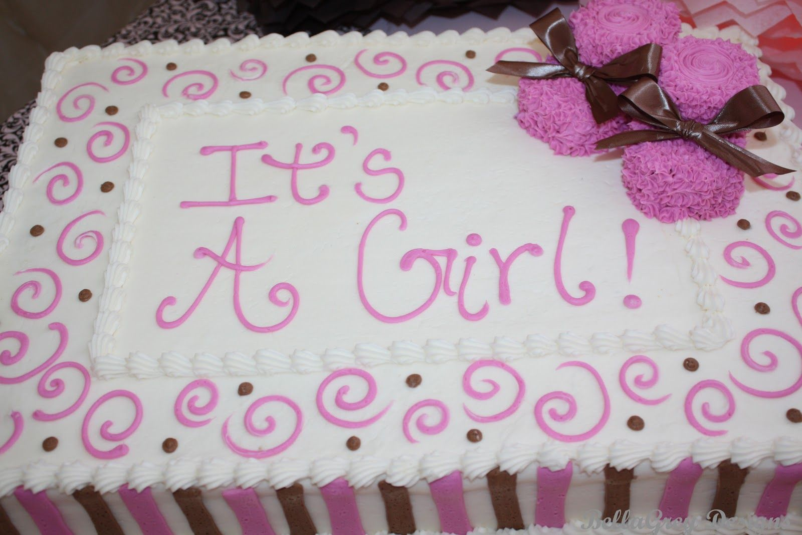 Chocolate And Pink Baby Shower