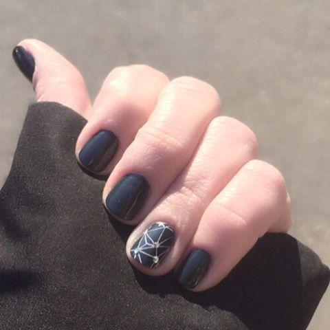 #manicure #nailstagram #geometricmani #nailswag #vinyluxpolish #constellationmani #nailtech