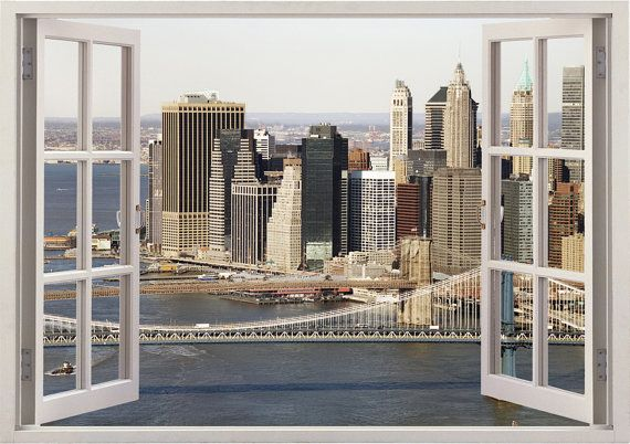 Wall Stickers New York City NYC City Landscape Skyline Decal 3D Art