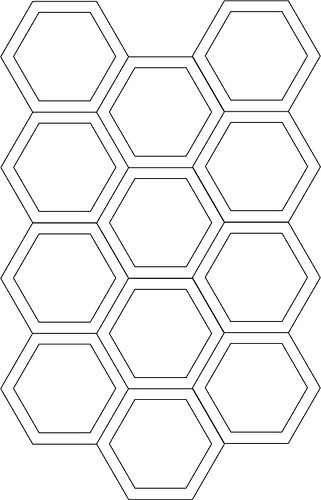 hexagon cutting template quilting quilts templates millefiori
