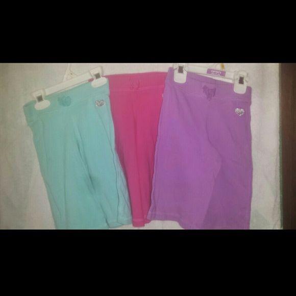 Girls capri pants Teal, pink and purple cotton capri pants Jackets & Coats