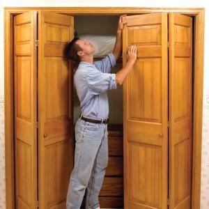 How To Fix Stubborn Bifold Closet Doors Bifold Closet Doors Folding Closet Doors Closet Door Hardware
