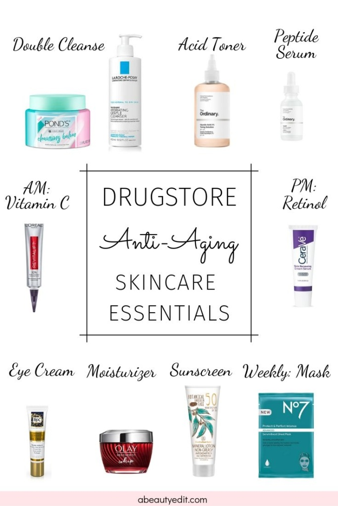 Drugstore Anti Aging Essentials For Your Skincare Routine A Beauty Edit In 2020 Skin Care Wrinkles Skin Care Essentials Top Skin Care Products