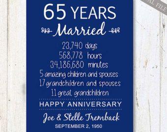 happy 65th wedding anniversary card