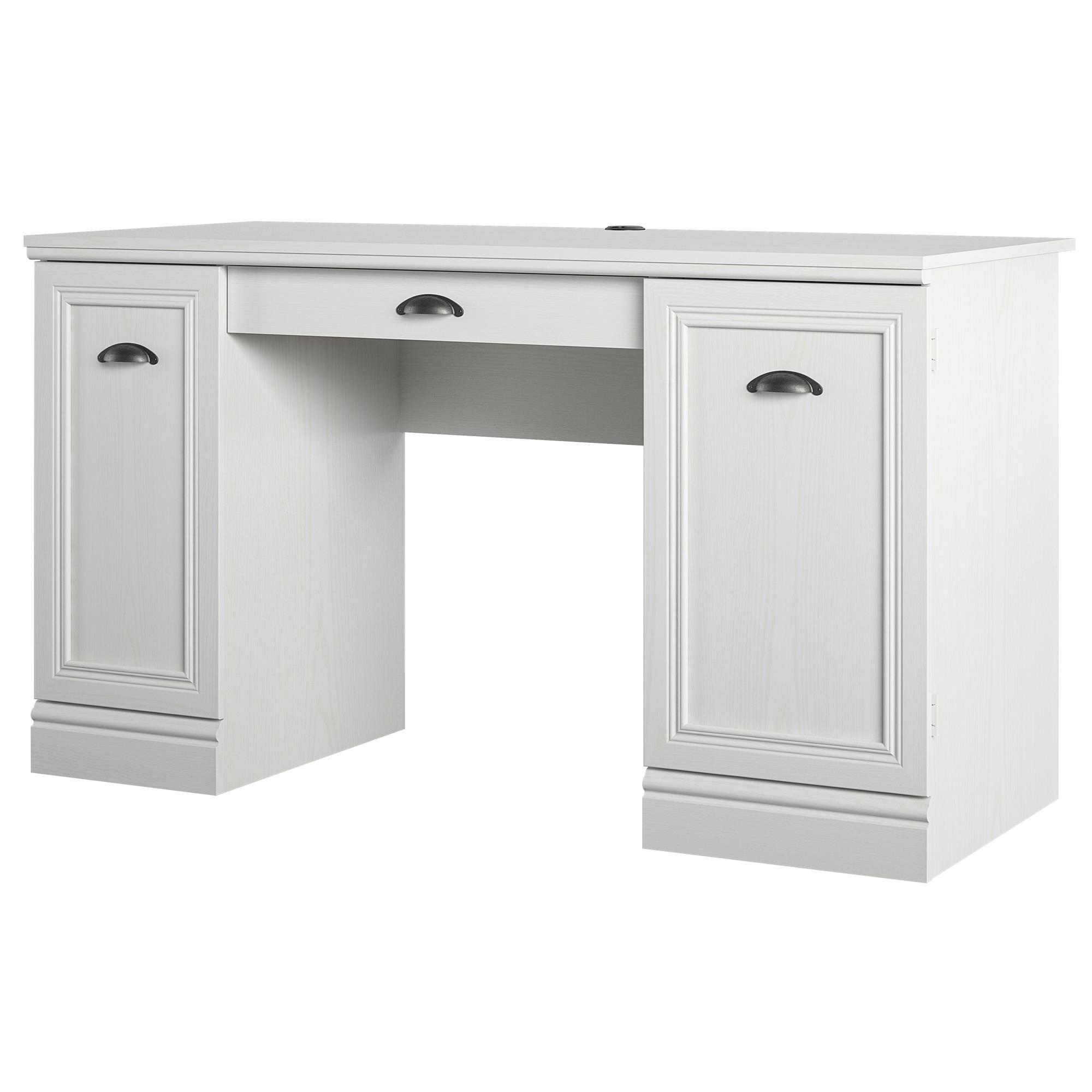 Home Double Pedestal Desk White Desks Pedestal Desk