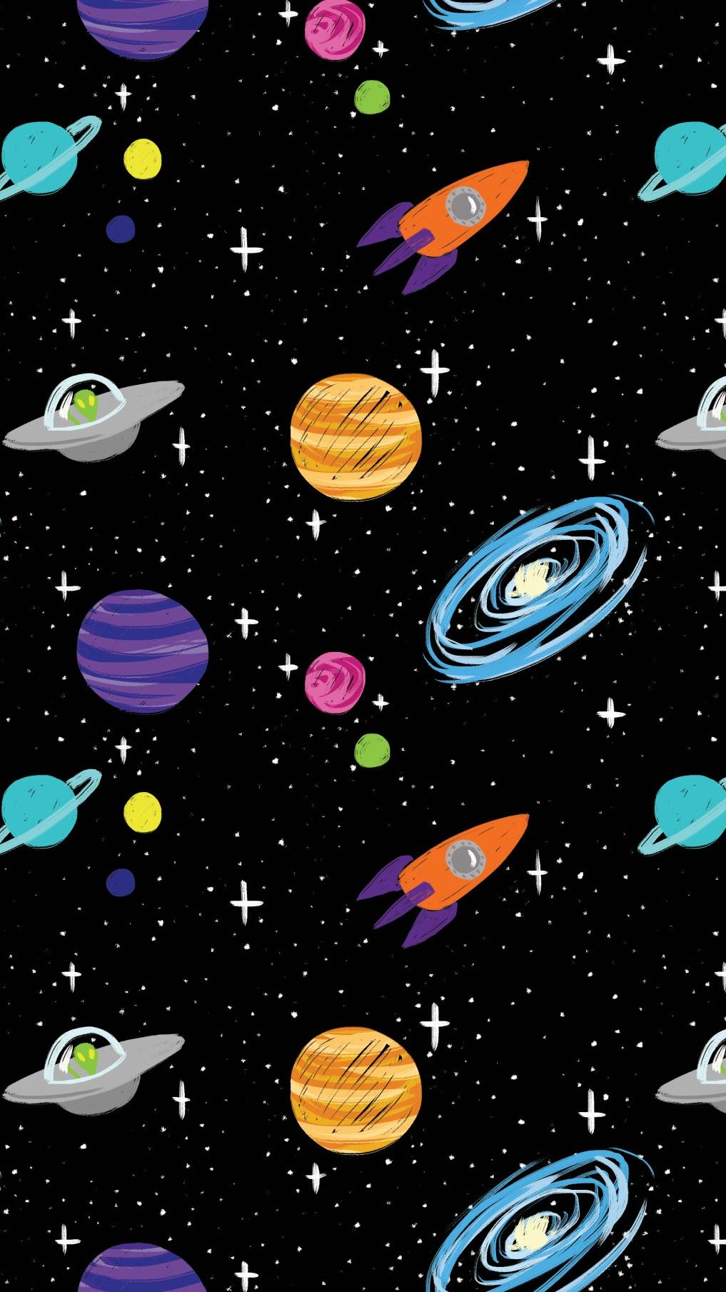 Planets Cute Tumblr Backgrounds Galaxy