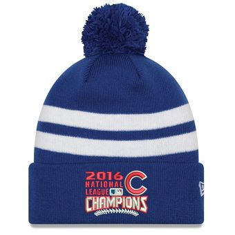 b0d3d5a84ca06 Chicago Cubs New Era 2016 National League Champions Knit Beanie - Royal