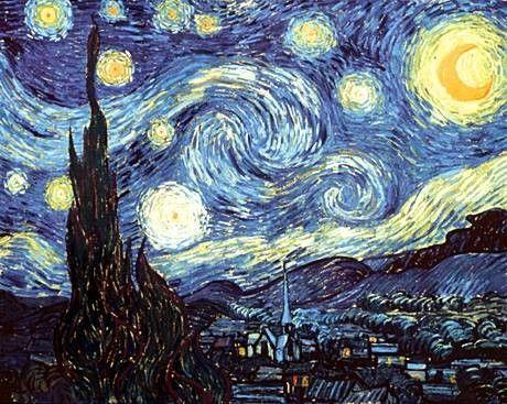 Peinture De Paysage La Nuit Etoilee De Vincent Van Gogh Van