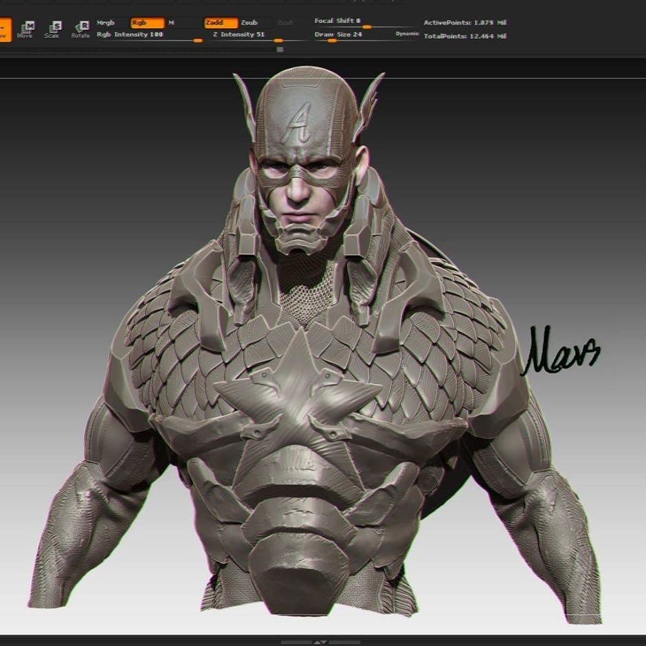 Captain by Mars M. | Fan Art | 3D | CGSociety
