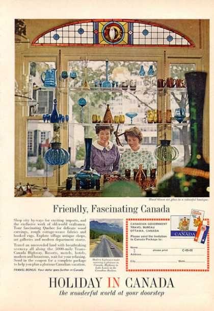 Quebec Canada Hand Blown Glass Boutque Travel (1964)