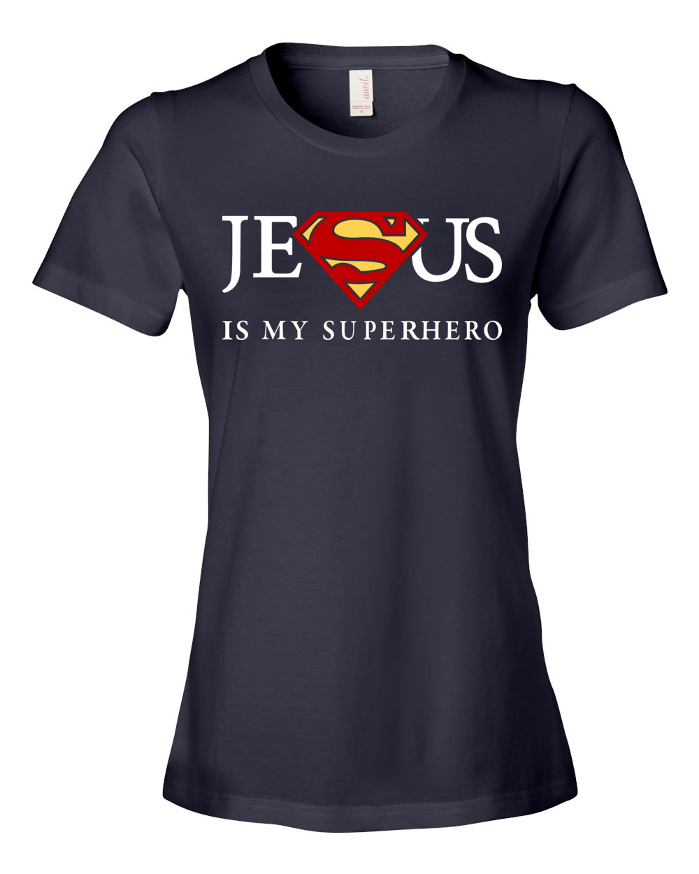 Women s Jesus Is My Superhero Camisetas Superheroes c1aed2f9c37b9