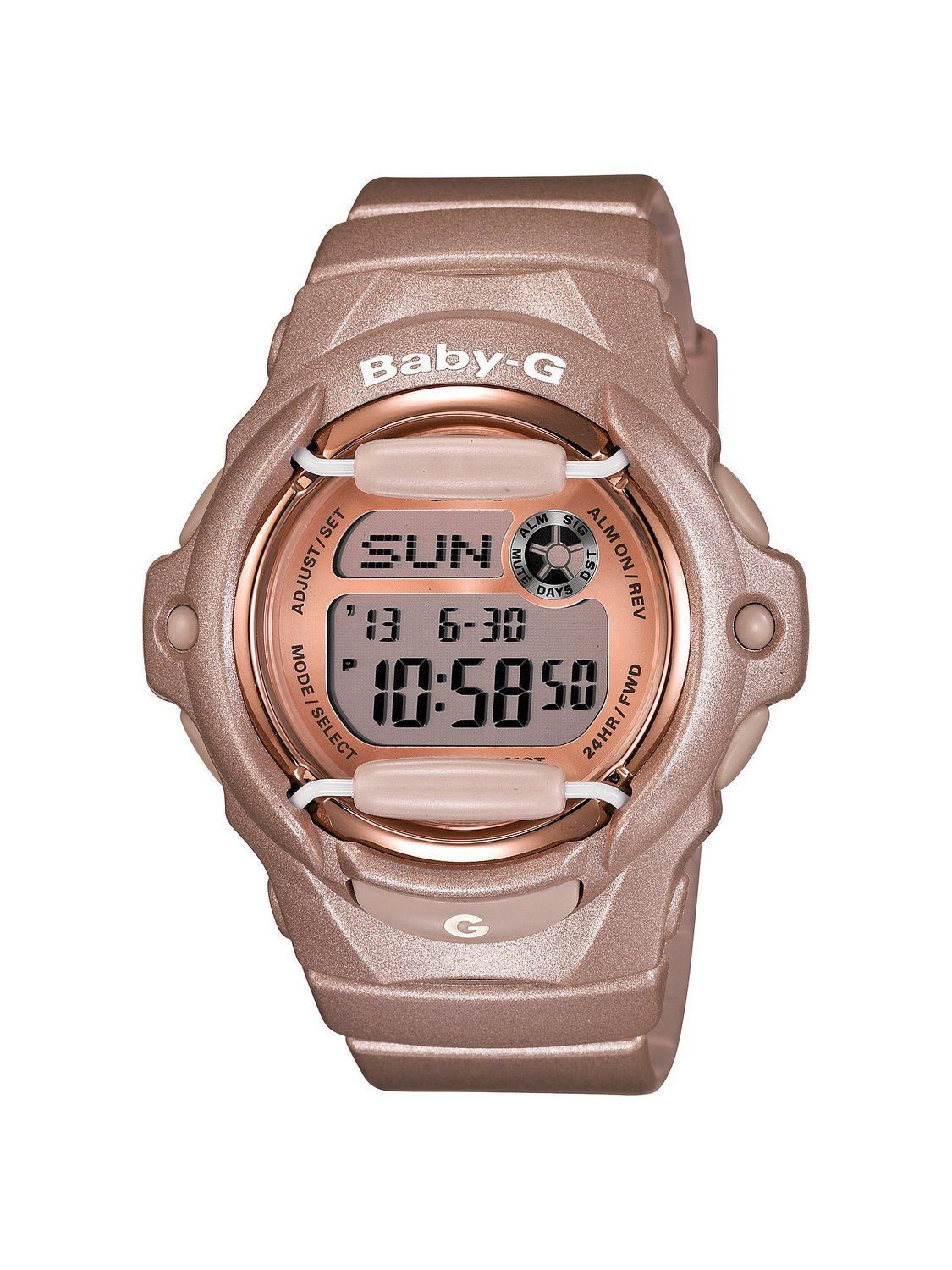 35cc5f18cb6b Amazon.com  Casio Women s BG169G-4 Baby G Pink Champagne Watch  Casio Baby-G   Watches
