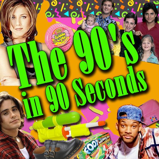 The 90s In 90 Seconds With Images 90s Kids Fashion 90s Theme