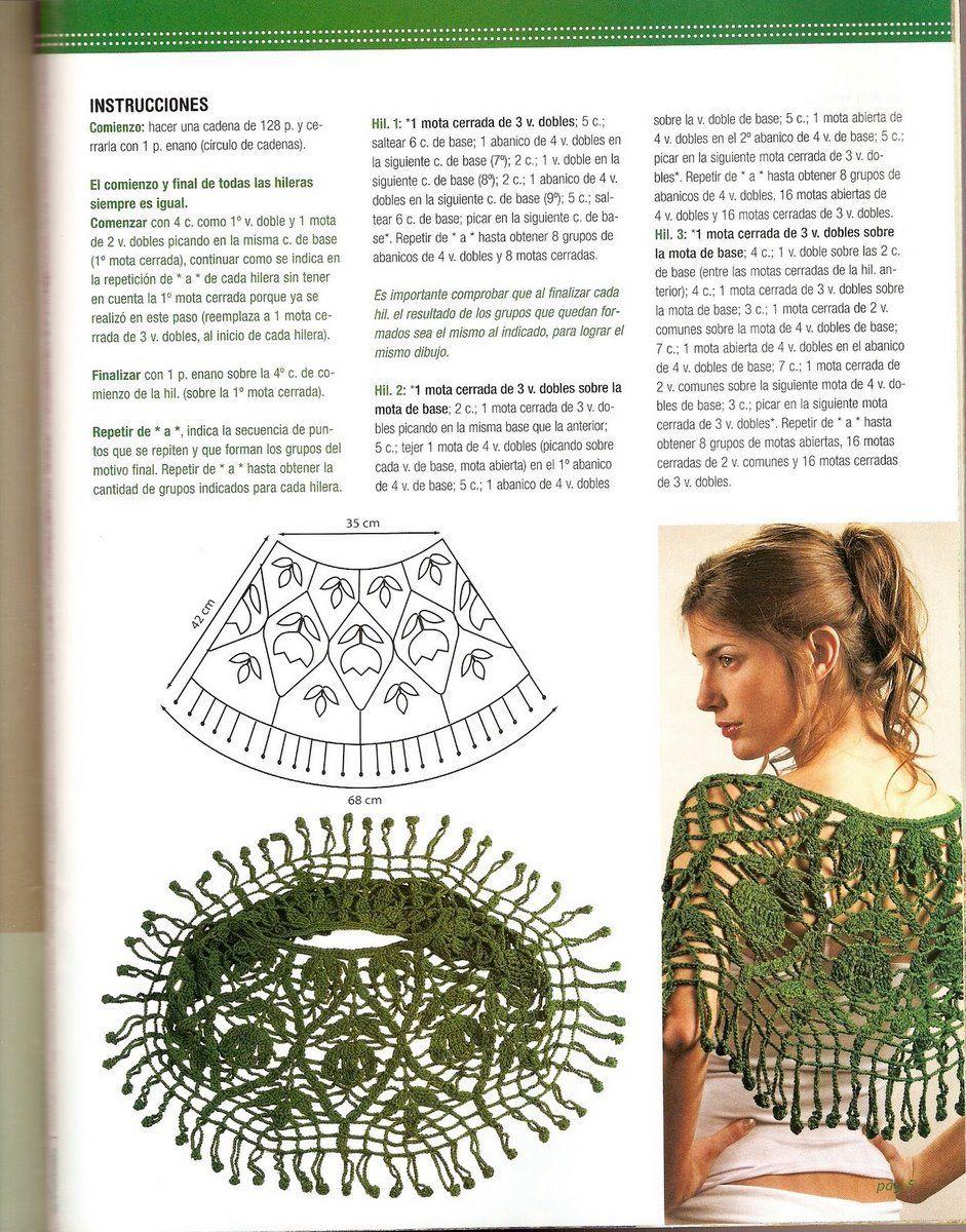 Resultado de imagen para capas crochet patrones gratis | Outfits ...