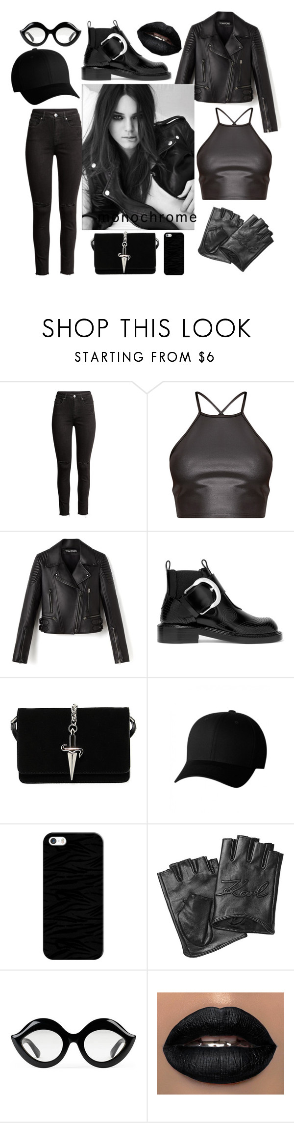 """""""Black List"""" by naomicunsolo ❤ liked on Polyvore featuring H&M, Maison Margiela,"""